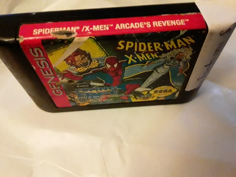 Spider-Man X-Men Arcade's Revenge Used Sega Genesis Video Game