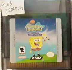 Spongebob Legend of the Lost Spatula Used Gameboy Color Video Game Cartridge