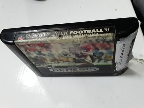Sports Talk NFL Football Starring Joe Montana Used Sega Genesis Video Game