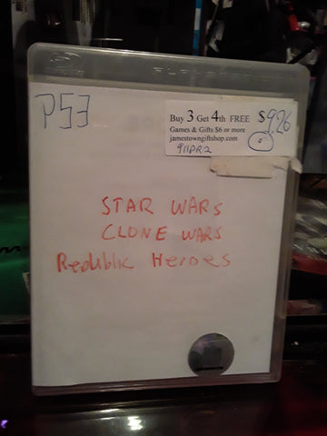 Star Wars Clone Wars Republic Heroes PS3 Video Game