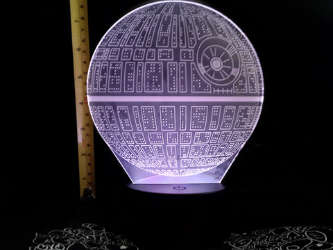 Star Wars Death Star Color-Changing LED Night Light Lamp