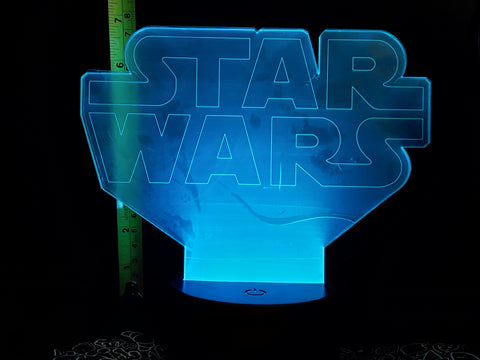 Star Wars Logo LED Night Light Lamp