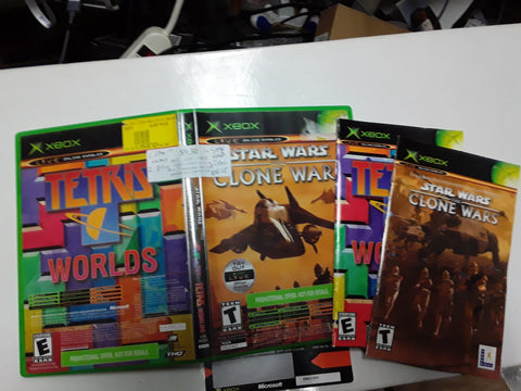 Star Wars Clone Wars Tetris Worlds Used Original Xbox Video Game
