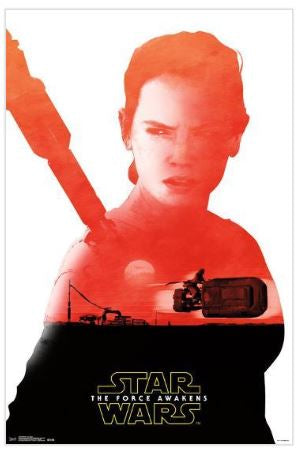 Star Wars The Force Awakens Rey Badge 22x34 Movie Poster