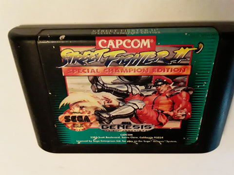 Street Fighter II Special Championship Edition Used Sega Genesis Video Game