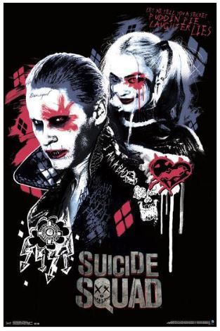 Harley Quinn Joker Twisted Love Suicide Squad 22x34 Poster
