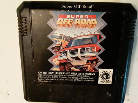 Super Off-Road Racing Used Sega Genesis Video Game