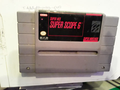 Super Scope 6 SNES Super Nintendo Video Game Cartridge