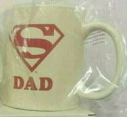 Superman Day Off Dad 15 Oz Glass Coffee Mug Cup