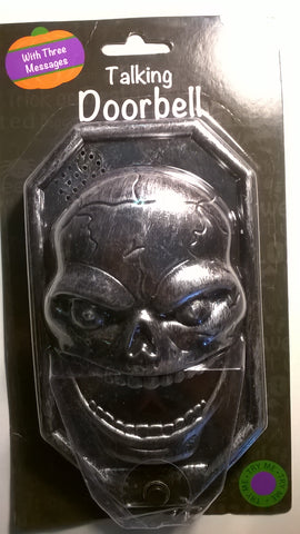 Talking Skull doorbell for Halloween