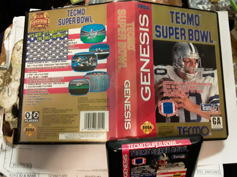 Tecmo Super Bowl 1 Used Sega Genesis Video Game
