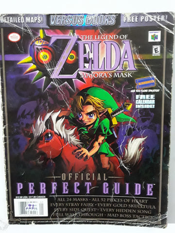 The Legend of Zelda: Majora's Mask Official Perfect Guide Versus Books Paperback Paperback Book