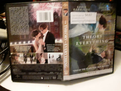 The Theory of Everything DVD Movie Eddie Redmayne, Felicy Jones, Emily Watson