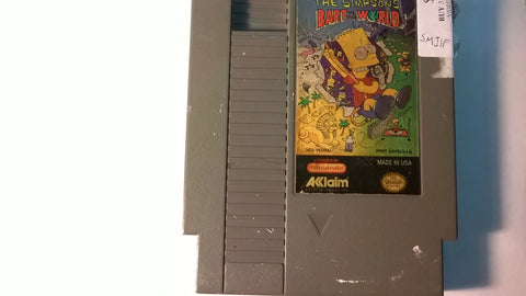 The Simpsons Bart vs. The World Original Nintendo NES USED Game