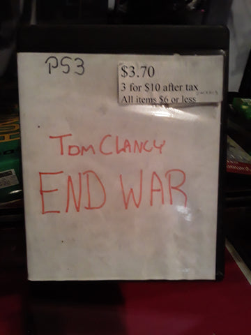 Tom Clancy End War PS3 Video Game