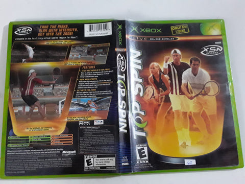 Top Spin Tennis Used Original Xbox Video Game