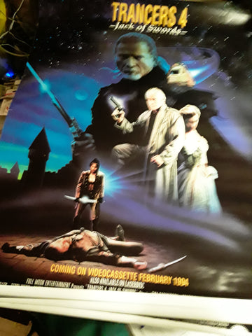 Trancers 4: Jack of Swords Movie Poster 27x40 Stacie Randall Stacie Randall Ty Miller USED