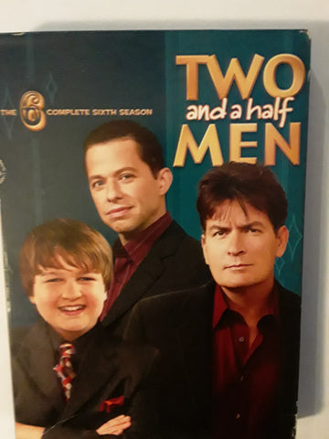 Two and a Half Men 6 Complete Sixth Season Used DVD Movie
