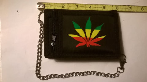 Marijuana Wallets with various Pot Leaf designs