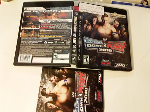 WWE Smackdown vs. Raw 2010 Used PS3 Video Game
