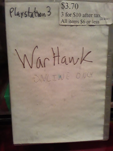 Warhawk PS3 Video Game