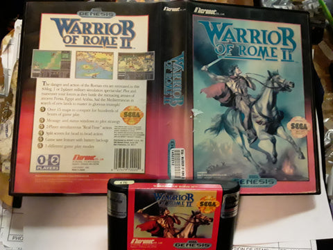 Warrior of Rome II Used Sega Genesis Video Game
