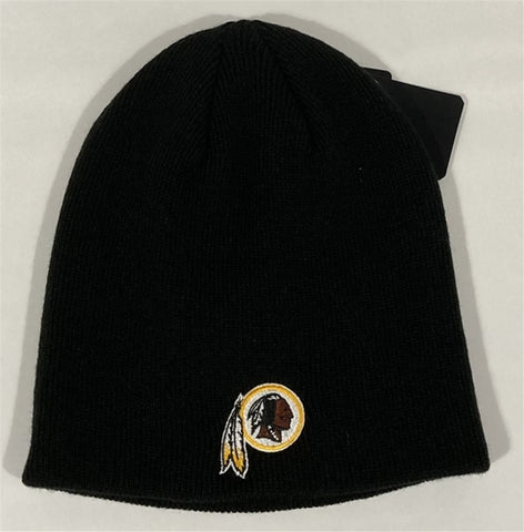 Washington Redskins NFL Black OTS Knit Beanie Hat