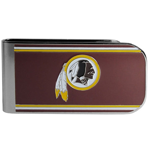 Washington Redskins NFL Team Color MVP Steel Money Clip