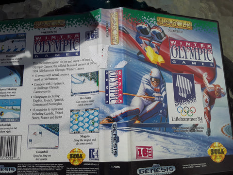 Winter Olympic Games Lillehammer 94 With Case Used Sega Genesis Video Game