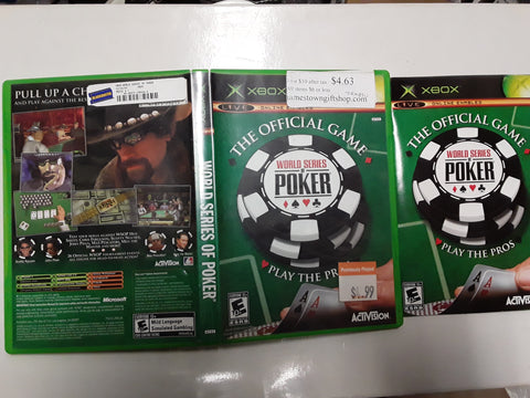 World Series of Poker Used Original Xbox Video Game