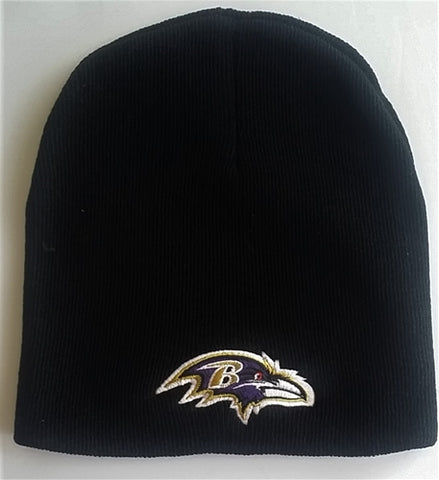 Baltimore Ravens NFL Classic Black Beanie Knit Hat