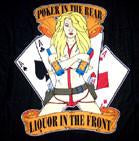 Poker Up Front Liquor in the Rear 45 x 45 Cloth Wall Banner