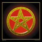 Pentagram 45 x 45 Cloth Wall Banner
