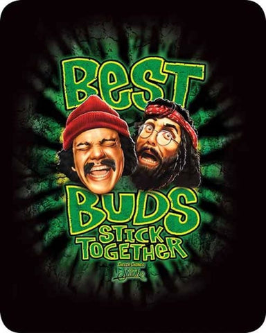 "Cheech and Chong Best Buds Faux Fur 79"" X 96"" Medium Weight Queen Blanket"