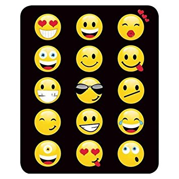 "Emoji Faux Fur 79"" X 96"" Medium Weight Queen Blanket"