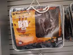 "Walking Dead Daryl Dixon Faux Fur 79"" X 96"" Medium Weight Queen Blanket"