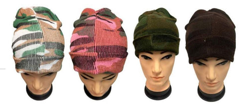 Camo Winter Beanies Multiple Colors