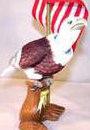 Eagle Bobble Head with American Flag