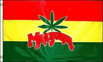 Flag Marijuana Red Yellow Green f 3x5 Foot Flag