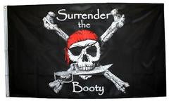 Pirate Skull Surrender the Booty 3x5 Foot Flag