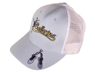 ballerina trucker hats in blue or pink
