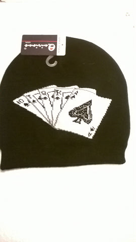 Beanie showing Playing Cards