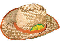 The big Australian Straw Cowboy Hat with Chin Strap