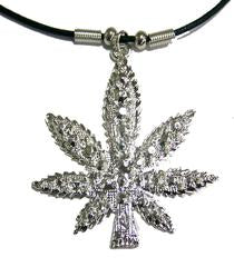 Marijuana Pot Leaf Necklace