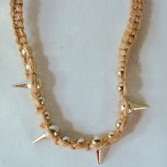 Spiked Hemp Necklace