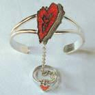 Slave Bracelet & Pinkie Ring Heart Design