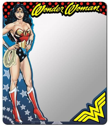Wonder Woman Locker Mirror 5.5 x 6.5 inches