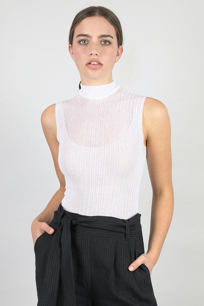 Cotton Tulle Crop High Neck - Standard Issue