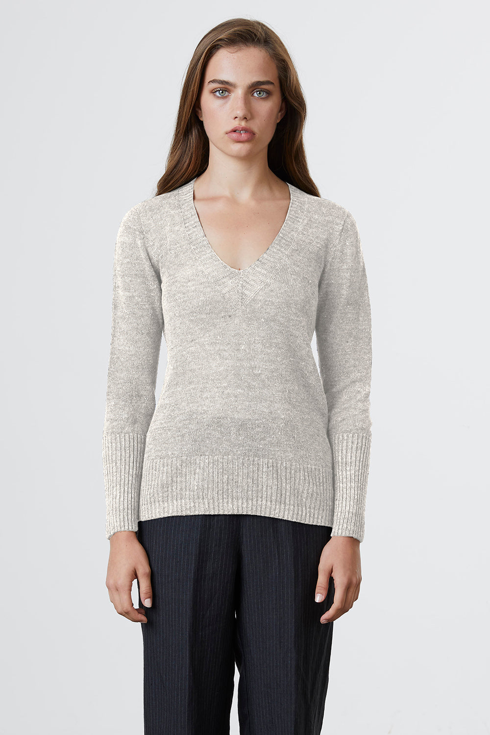 Linen V Jumper - Standard Issue