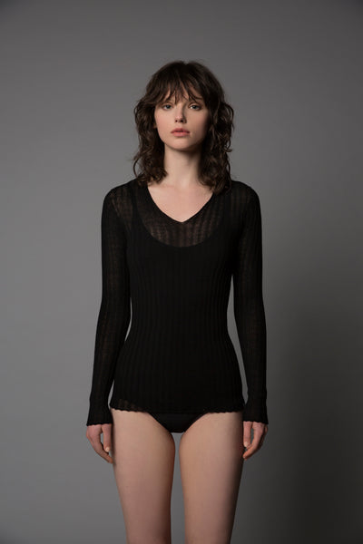 Merino Tulle V Top - Standard Issue